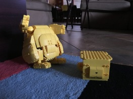 Pikachu building - Body done no tail no head yet