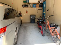 Our garage now that we are a one car family. Uncluttered garage.  Clean Garage.